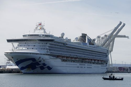 The Grand Princess cruise ship carrying at least 21 people who have tested positive for the novel coronavirus has arrived at a California port.
