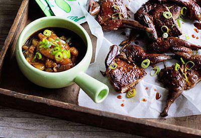 Crisp oolong-smoked quail