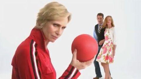 Glee cast attacked by dodgeballs in season three promo