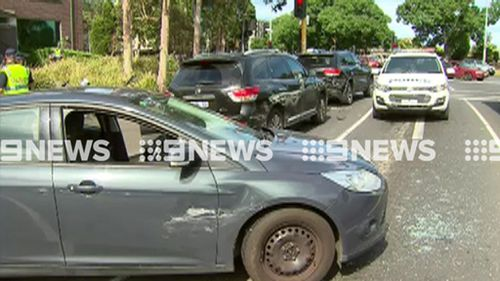 The allegedly stolen grey Ford Focus. (9NEWS)