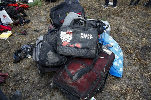 Distressing images of belongings at the scene of the crash showed how young some of the victims were.