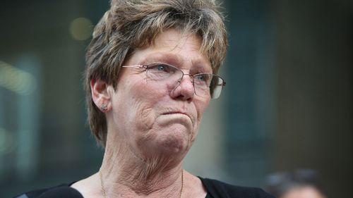 Mark Spencer's mother Julie Spender outside court. (AAP)