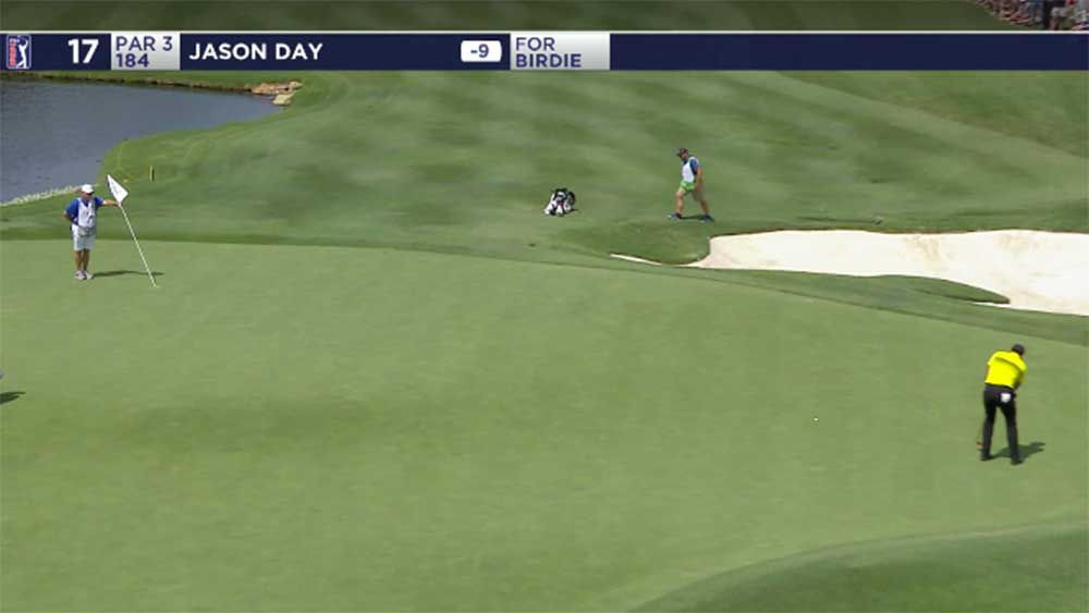 Golf: Jason Day lands bomb to race up leaderboard