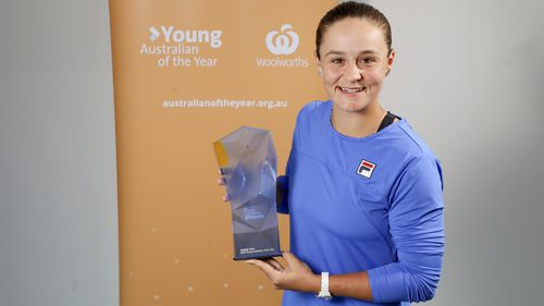Australian tennis player Ash Barty has received the award for Young Australian of the Year.