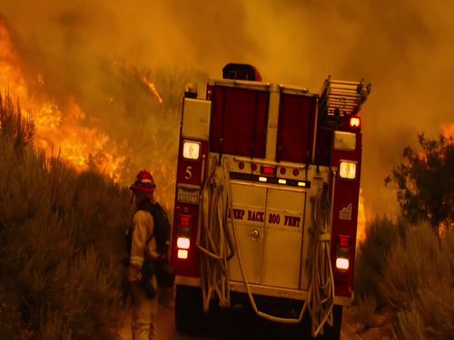 Firefighters now face increased fire seasons and fire preparation all-year round. Picture: 9NEWS.