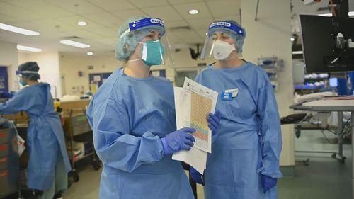 Inside Sydney's ICU ward at St Vincent's hospital.