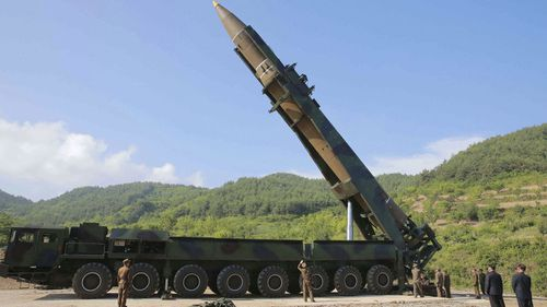 US and South Korea officials are analysing the missile's trajectory.