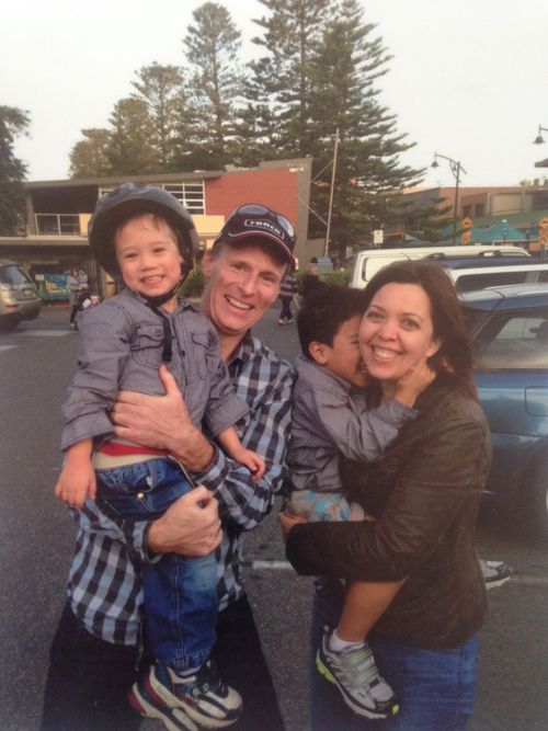 It took Sarah and James Wright three years to finalise their adoption of brother Josiah and Kaleb. Picture: 9NEWS