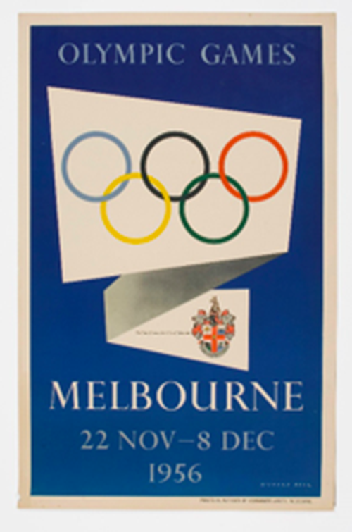 A Melbourne 1956 Olympic Games poster.