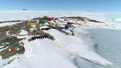 Mawson station at Antarctica
