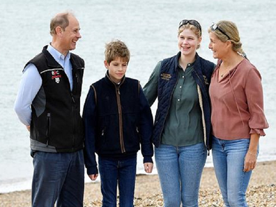 The Duke and Countess of Wessex with children Louisa, 16, and James, 12.