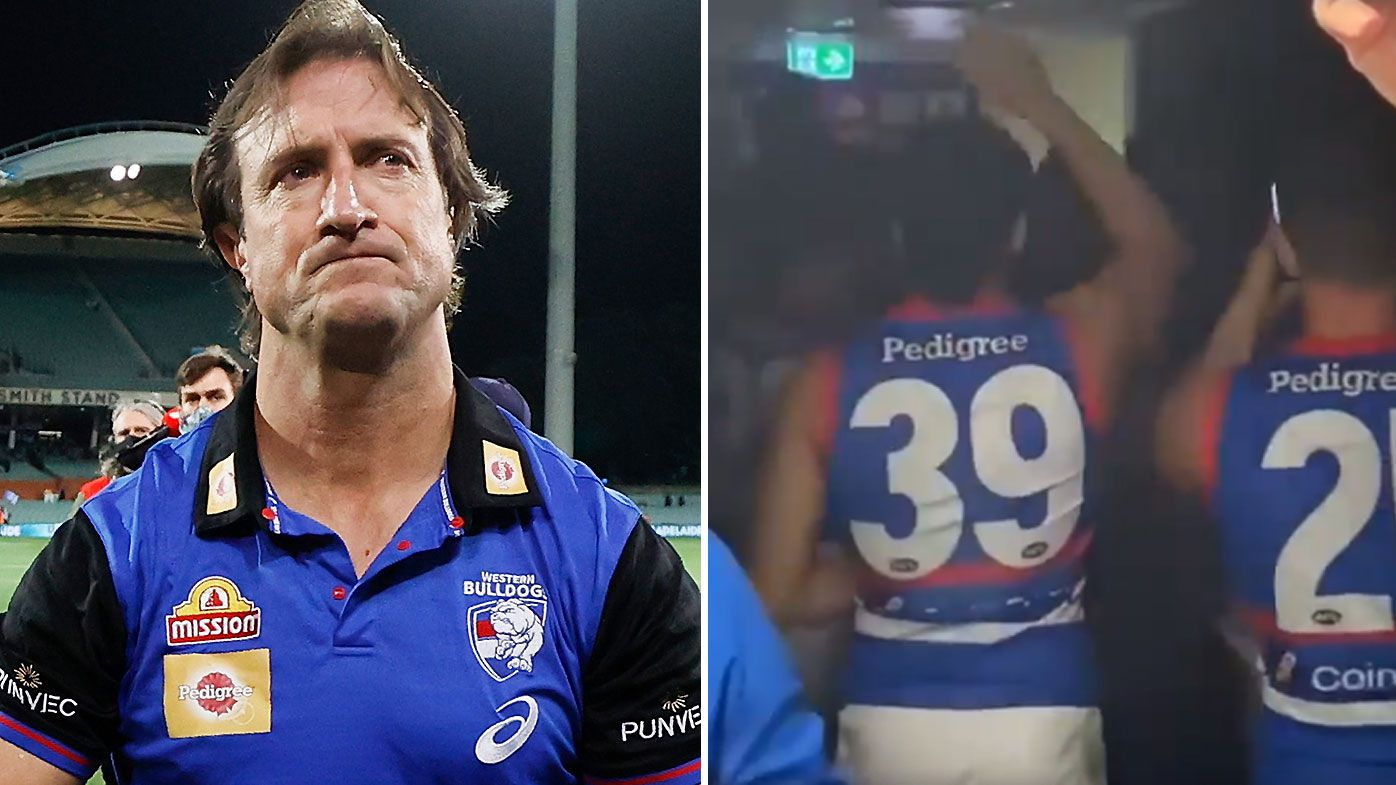 Luke Beveridge says Bulldogs 'disappointed' at private celebration being shared to social media
