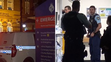 Patient stabbed in back by stranger while awaiting treatment at Sydney's Royal Prince Alfred Hospital