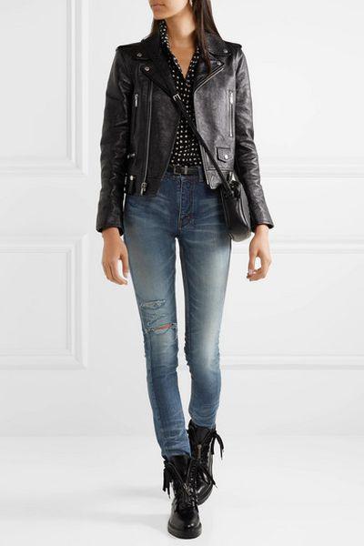 "<a href=""https://www.net-a-porter.com/au/en/product/1068861/saint_laurent/distressed-high-rise-skinny-jeans"" target=""_blank"" title=""Saint Laurent Distressed High-Rise Skinny Jeans, $975"">Saint Laurent Distressed High-Rise Skinny Jeans, $975</a>"