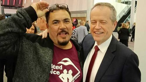Wayne Kurnoth and Bill Shorten in a photo posted on the former's Facebook page.