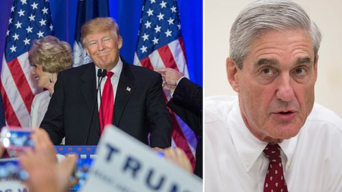 Special counsel Robert Mueller, right, has requested an interview with US President Donald Trump over his Russia links.