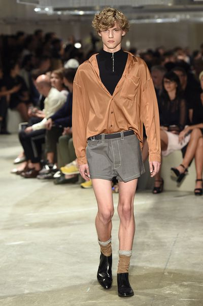 <p>Rabbit and racing car motifs, short shorts and sporty shapes were the order of the day at Prada's menswear show in Milan.  </p>