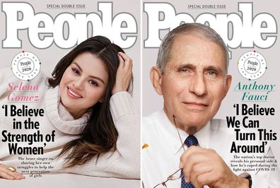 People magazine special '2020 People of the Year' covers featuring Selena Gomez (left) and Dr Anthony Fauci (right)