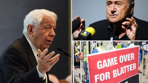 "FFA chairman Frank Lowy said FIFA needs a ""fresh start"". (AAP)"