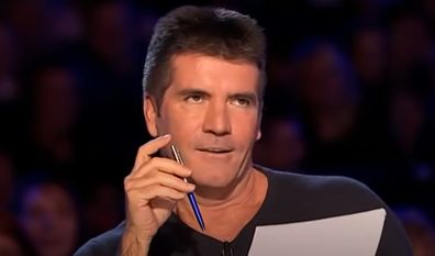 Simon Cowell looks on as Susan Boyle auditions for Britain's Got Talent in 2009.