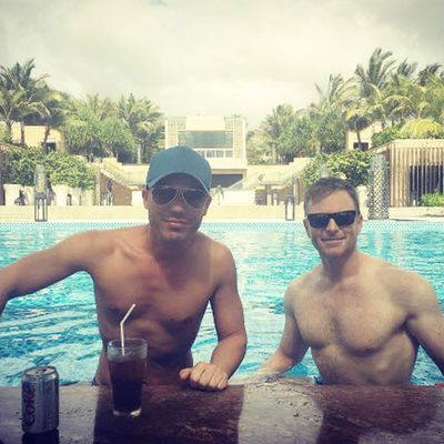 Anthony Callea and Tim Campbell are currently in Bali