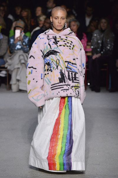 "<p>After 17-years at the helm of historic British fashion house, Burberry, Christopher Bailey&rsquo;s last dance as creative director ended beneath a rainbow.</p> <p>The show, always the highlight of London Fashion Week, saw the beige Burberry check be given a makeover as models such as British Vogue covergirl Adwoa Aboah and British supermodel Cara Delevingne light up the runway with colourful, &lsquo;90s-inspired designs.</p> <p>The bright, bold creations such as faux-fur coats and a blanket capes adorned in rainbow stripes, were a symbol of the brand&rsquo;s firm support of the LGBTQ charities and an ode to diversity.</p> <p>""My final collection here at Burberry is dedicated to some of the best and brightest organisations supporting LGBTQ+ youth around the world,"" Bailey told <em><a href=""https://www.vogue.com/article/christopher-bailey-burberry-exit-interview"" target=""_blank"">Vogue.</a></em></p> <p>""There has never been a more important time to say that in our diversity lies our strength and our creativity.""</p> <p>The rainbow runway was lined with famous faces and Burberry muses such as Naomi Watts, Kate Moss, Alexa Chung, Paris Jackson and Zendaya.</p> <p>Click through to see the highlights of Burberry&rsquo;s A/W&rsquo;18 show.</p>"