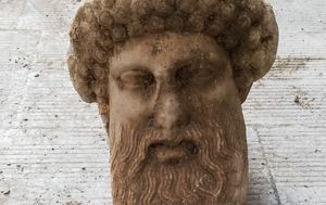 Ancient Greek god's bust found during Athens sewage work