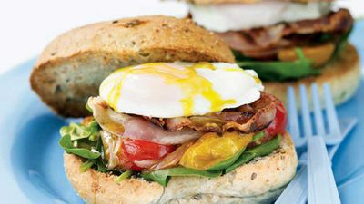 <strong>Egg, pancetta and chilli tomato burgers</strong>