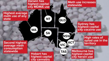 Cocaine and cannabis capitals revealed as meth use rises