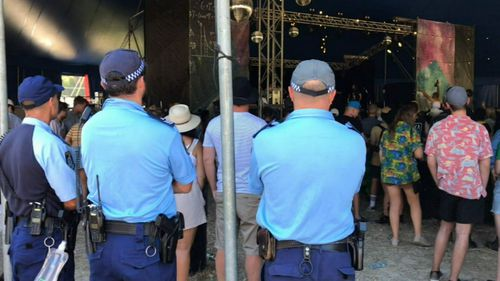 At the Electric Gardens Festival, 75 people were caught out by police for drug-related offences.
