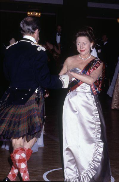 Princess Margaret  at the Royal Caledonian Ball at the Grosvenor House Hotel in London, May 1983