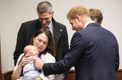 Prince Harry visits the Queen Elizabeth Hospital, March 2019