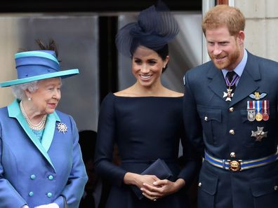 Meghan Markle, Queen, Prince Harry