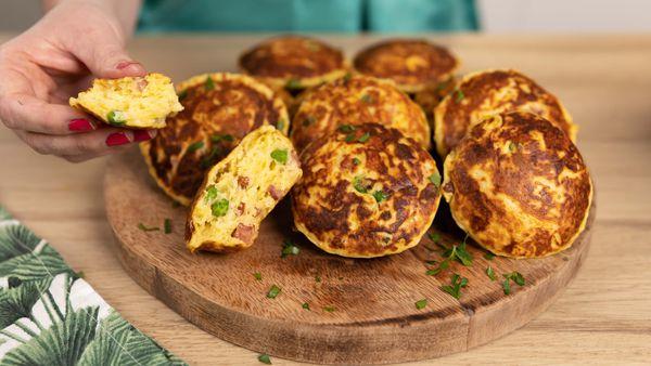 Cheesy mashed potato muffins make great finger food