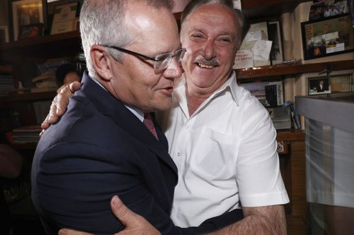Mr Morrison embraced customers and staff at Sisto's beloved cafe.