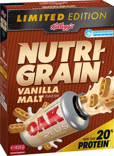 Kellogg's Nutrigrain and Oak milk mash up cereal