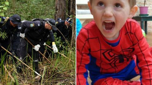 Yesterday, a new search began for the child on the day he would have turned seven years old, ahead of a possible coronial inquest this year. Picture: Supplied.