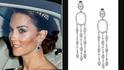 Queen Mother's sapphire and diamond earrings