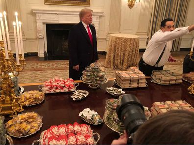 Trump caters fast food at White House