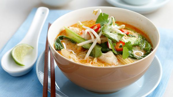 Spicy coconut fish soup for $9.60