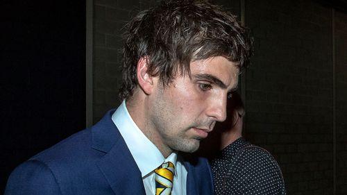 Andrew Gaff has been handed an eight week suspension. Picture: AAP