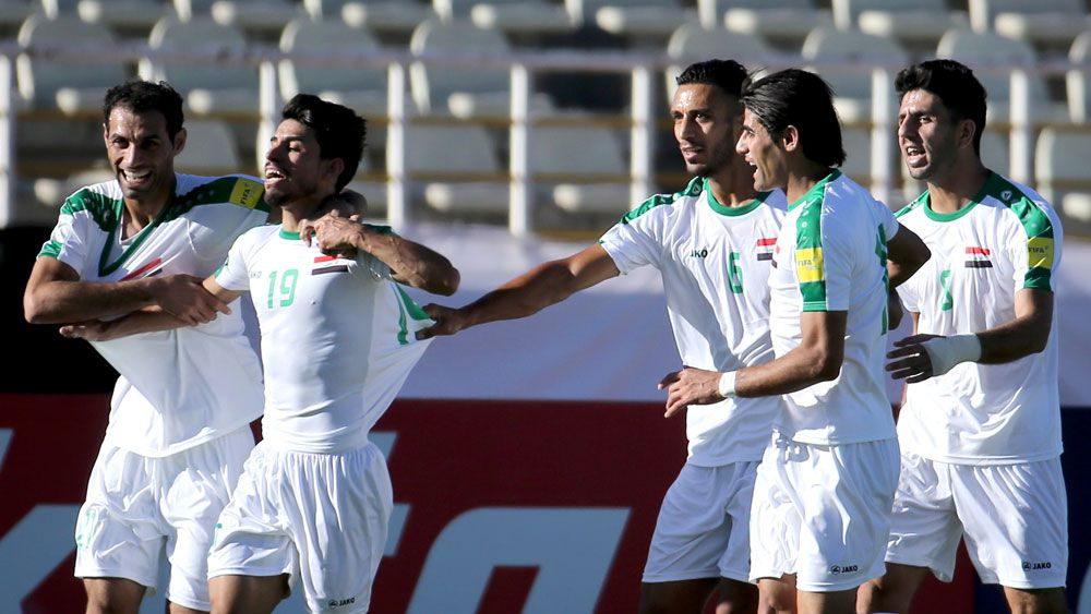 Iraqi football players.