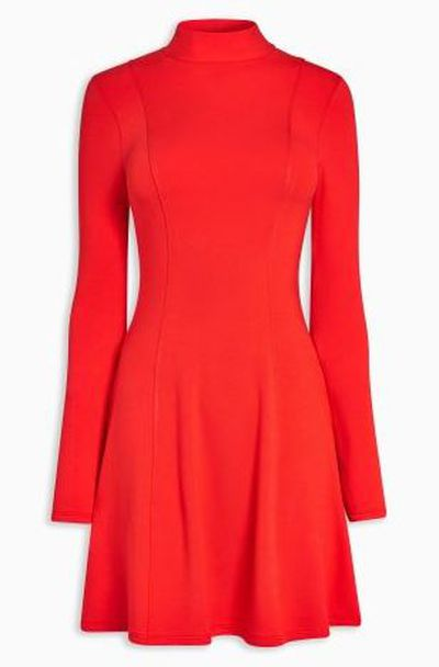 "<a href=""http://www.next.com.au/en/xo32146s11#172941"" target=""_blank"">Next Red High Neck Dress, $35.</a>"