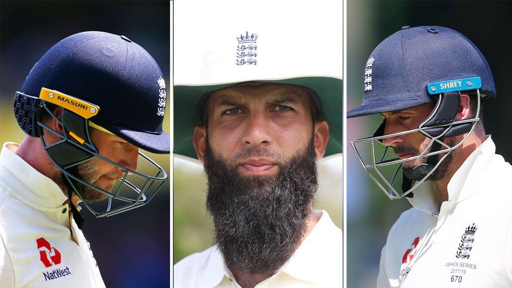 Mark Stoneman, Moeen Ali and James Vince.