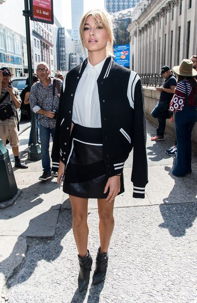 Hailey Baldwin at the Public School show during Spring 2016 New York Fashion Week on September 13, 2015.