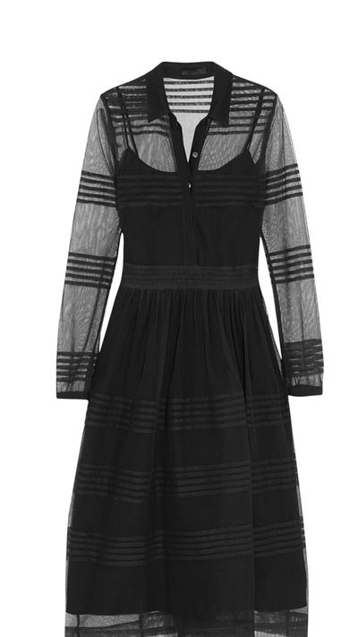 "<a href=""http://www.net-a-porter.com/product/538738/Burberry_Prorsum/pintucked-cotton-tulle-dress"" target=""_blank"">Dress, $965.91, Burberry Prorsum at Net-A-Porter</a>"