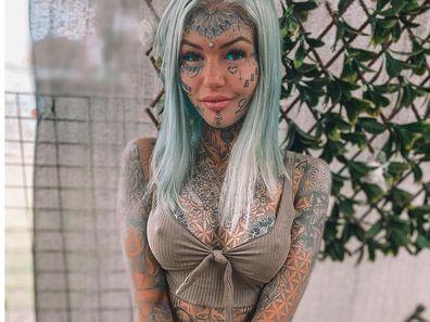 Amber Luke has over 200 tattoos on her body