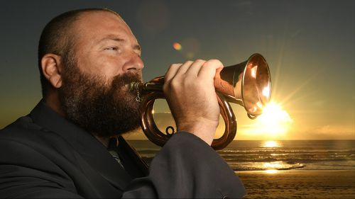 Adam will play the Bugle at the Anzac Day Dawn Service at Elephant Rock on Currumbin Beach. (AAP)