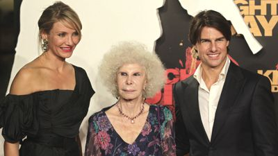 Actual nobility mixed with Hollywood royalty when the Duchess joined Cameron Diaz and Tom Cruise on the red carpet for the premier of their film Knight and Day in June 2010. (AAP)