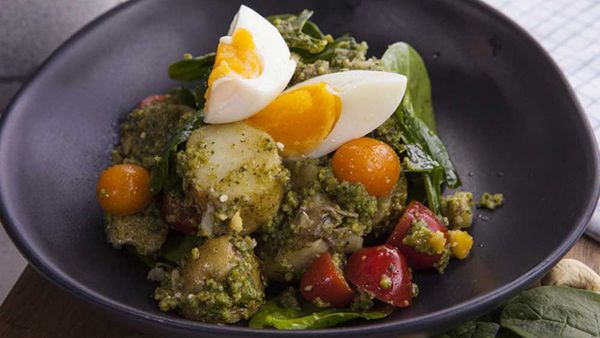 Pesto potato and egg salad